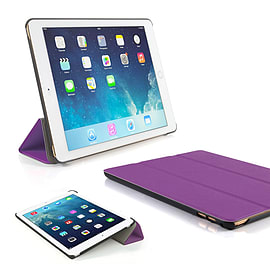 Frostycow Ultra Slim Magnetic Smart Case Cover For Apple iPad 6 Air 2 & Screen Protector Purple Tablet