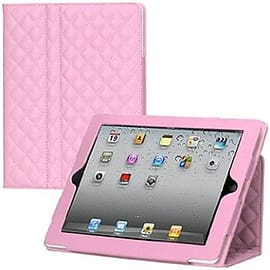 Frostycow Luxury Quilted PU Leather Portfolio Case For Apple iPad 2 3 4 Retina Pink Tablet
