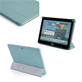 Frostycow Ultra Slim PU Leather Smart Case For Samsung Galaxy Tab 2 10.1 P5100 P5110 Blue Tablet