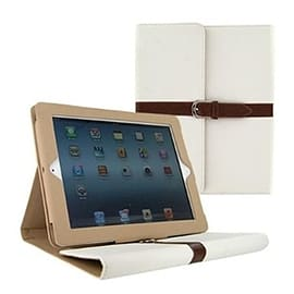 Frostycow Vintage PU Leather Belt Clip Case Stand For Apple iPad 2, 3 & 4 White Tablet