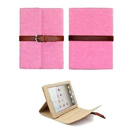 Frostycow Vintage PU Leather Belt Clip Case Stand For Apple iPad Mini Pink Tablet