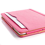 Frostycow Tan PU Leather Wallet Smart Flip Case Cover for Apple iPad Air 5 - Sleep & Wake Pink screen shot 1