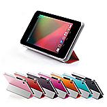 Frostycow Smart PU Leather Case for Nexus 7 V2 2013 Tablet + Screen Protector & Stylus Pink screen shot 1