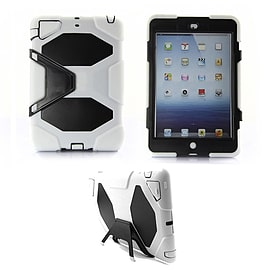 Frostycow Military Heavy Duty Anti Shock Case Cover With Stand for Apple iPad Air White Tablet
