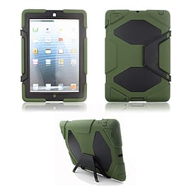 Frostycow Military Heavy Duty Anti Shock Case Cover With Stand for Apple iPad 2/3/4 Green Tablet