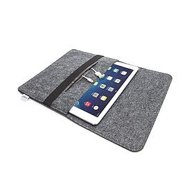 ORDEL® Soft Felt Sleeve Case Cover For Apple iPad Mini/Mini2 Dark Grey Tablet