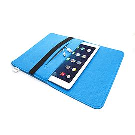ORDEL® Soft Felt Sleeve Case Cover For Apple iPad Mini/Mini2 Blue Tablet