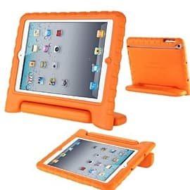 Frostycow Rubber Shock Resistant Easy Hold Children's Case For Apple iPad Air 5 Orange Tablet