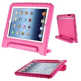 Frostycow Rubber Shock Resistant Easy Hold Children's Case For Apple iPad Air 5 Pink Tablet