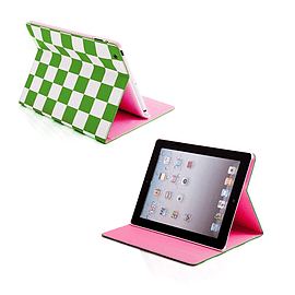 Frostycow Retro Chequered 2 colour case for Apple iPad Mini Green Tablet