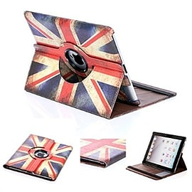 Frostycow Retro Union Jack Flag 360 Degree Rotating Case Stand For Apple iPad Mini Tablet
