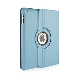 Frostycow 360 Degree PU Leather Rotating Case Stand For Apple iPad 6 Air 2 & Screen Protector Blue Tablet