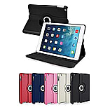 Frostycow 360 Degree PU Leather Rotating Case Stand For Apple iPad Air 5 Pink screen shot 1