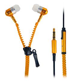 In-Ear 3.5mm Zip Zipper Style Tangle Free Earphones Headphones For Mobile Phone, Tablet, MP3 Orange Mobile phones