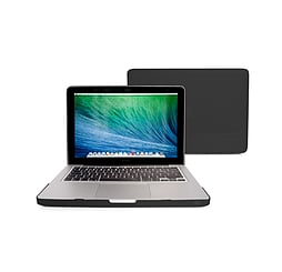Frostycow Ultra Slim Crystal Cover Case For Apple Macbook Pro 13 Black PC