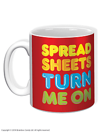 Spreadsheets Turn Me On Mug Home - Tableware