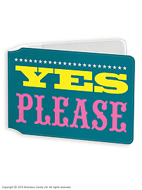 Yes Please/No Thanks Feint Line Travel Card Holder Multi Format and Universal