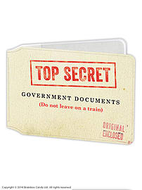 Government Secret File Travel Card Holder Multi Format and Universal