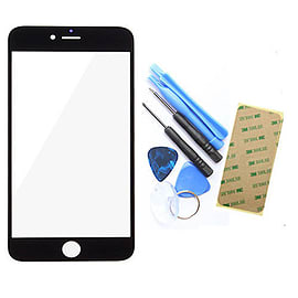 Frostycow Glass Front Cover Screen Replacement for Apple iPhone 6+ PLUS (5.5) Black Mobile phones