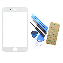 Frostycow Glass Front Cover Screen Replacement for Apple iPhone 6+ PLUS (5.5) White Mobile phones