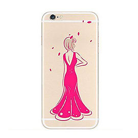 Frostycow Clear Retro Design TPU Bumper Cover Case For New Apple iPhone 5 Dress Mobile phones