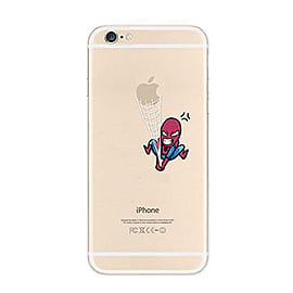 Frostycow Clear Retro Design TPU Bumper Cover Case For New Apple iPhone 6 Spider Mobile phones
