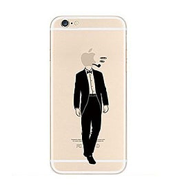 Frostycow Clear Retro Design TPU Bumper Cover Case For New Apple iPhone 6 Suit Mobile phones