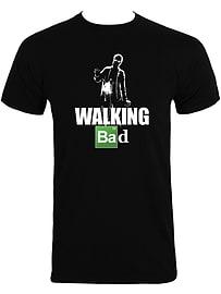 Walking Bad Black Men's T-shirt: Small (Mens 36 - 38) Clothing