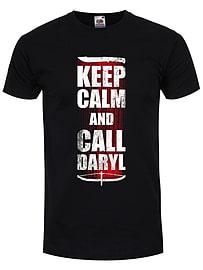 Keep Calm and Call Daryl Black Men's T-shirt: Large (Mens 40- 42) Clothing