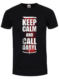Keep Calm and Call Daryl Black Men's T-shirt: Extra Large (Mens 42- 44) Clothing
