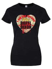 I Am The Future Mrs Daryl Dixon Black Women's T-shirt: Skinny Fit Medium (UK 10 - 12) Clothing