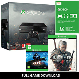 Xbox One Console With The Witcher: Wild Hunt & 12 Months Xbox Live Gold - Only At GAME Xbox One