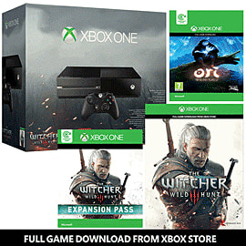 Xbox One Console With The Witcher: Wild Hunt & The Witcher: Wild Hunt Expansion Pass - Only At GAME Xbox One