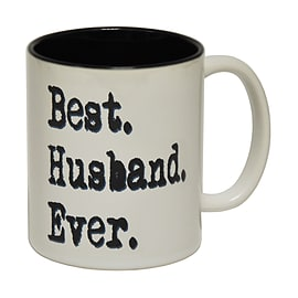 123t Mugs BEST HUSBAND EVER Ceramic Slogan Cup With Black Interior Home - Tableware