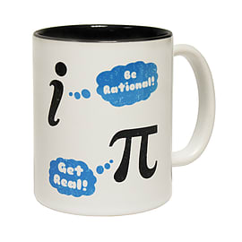123t Mugs BE RATIONAL GET REAL Ceramic Slogan Cup With Black Interior Home - Tableware