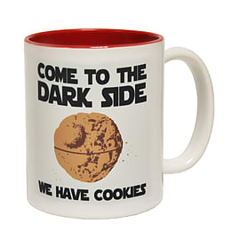 123t Mugs COME TO THE DARK SIDE WE HAVE COOKIES Ceramic Slogan Cup With Red Interior Home - Tableware