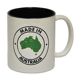 123t Mugs MADE IN AUSTRALIA Ceramic Slogan Cup With Black Interior Home - Tableware