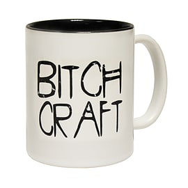 123t Mugs BITCH CRAFT Ceramic Slogan Cup With Black Interior Home - Tableware