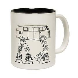 123t Mugs CAMPER ATAT Ceramic Slogan Cup With Black Interior Home - Tableware