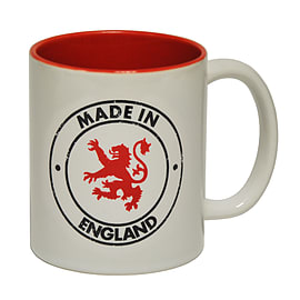 123t Mugs MADE IN ENGLAND Ceramic Slogan Cup With Red Interior Home - Tableware