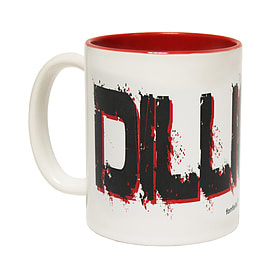 123t Mugs DILLIGAF Ceramic Slogan Cup With Red Interior Home - Tableware