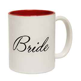 123t Mugs BRIDE Ceramic Slogan Cup With Red Interior Home - Tableware