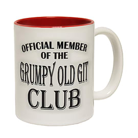 123t Mugs GRUMPY OLD GIT Ceramic Slogan Cup With Red Interior Home - Tableware
