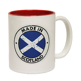 123t Mugs MADE IN SCOTLAND Ceramic Slogan Cup With Red Interior Home - Tableware