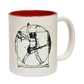 123t Mugs LEONARDO GUITAR Ceramic Slogan Cup With Red Interior Home - Tableware