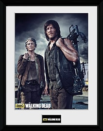 The Walking Dead Carol and Daryl Framed Collector Print Memorabilia
