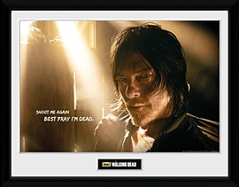 The Walking Dead Daryl Light Framed Collector Print Memorabilia