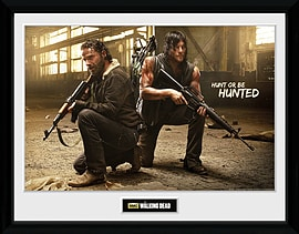 The Walking Dead Rick and Daryl Hunt Framed Collector Print Memorabilia