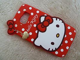 DIA RED HELLO KITTY DOTS SILICONE PHONE CASE COVER FOR SAMSUNG GALAXY S6 (C4) Mobile phones