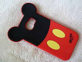 DIA MICKEY MOUSE BACK SILICONE CASE COVER FOR SAMSUNG GALAXY S6 (D8 RED) Mobile phones